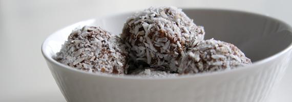 Choklad- och fikonbollar