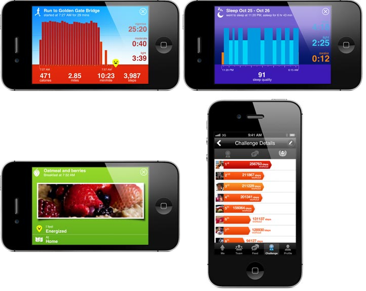 jawbone up app Nike+ FuelBand vs. Jawbone UP