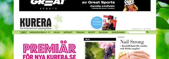 Idag lanserades portalen kurera.se