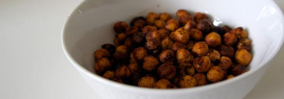 Kryddiga rostade kikärtor