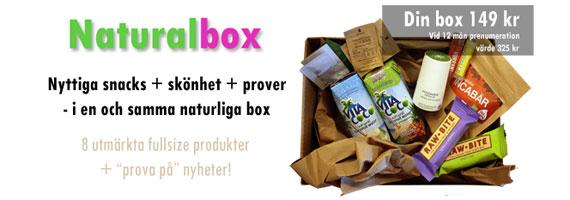 Naturalbox – prenumerera på naturliga produkter
