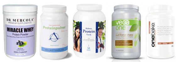 Fem naturliga proteinpulver
