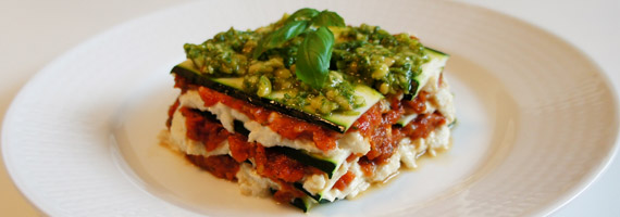 Raw food lasagne