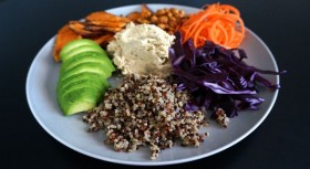 Proteinrik vegantallrik